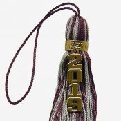 Schoen - tassel with vertical numeral up close