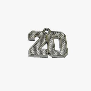 Regular Numeral Silver 2020 - Schoen Trimming and Cord Co.