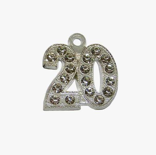 Numerical Rhinestone Silver - Schoen